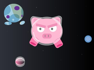 pigs in space childrens illustration fun effects illustration