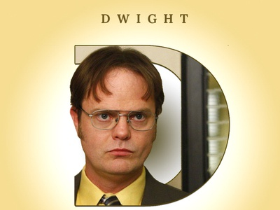DWIGHT photoshop typogaphy