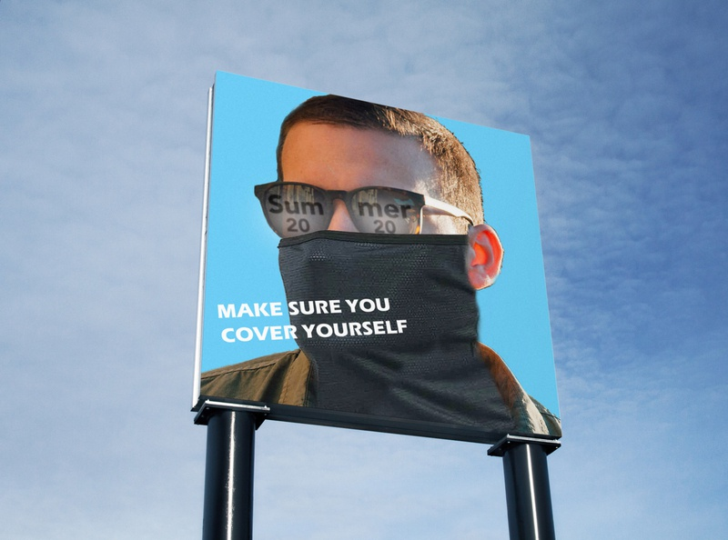 WEAR A MASK MOCK UP campaign photoshop mockup