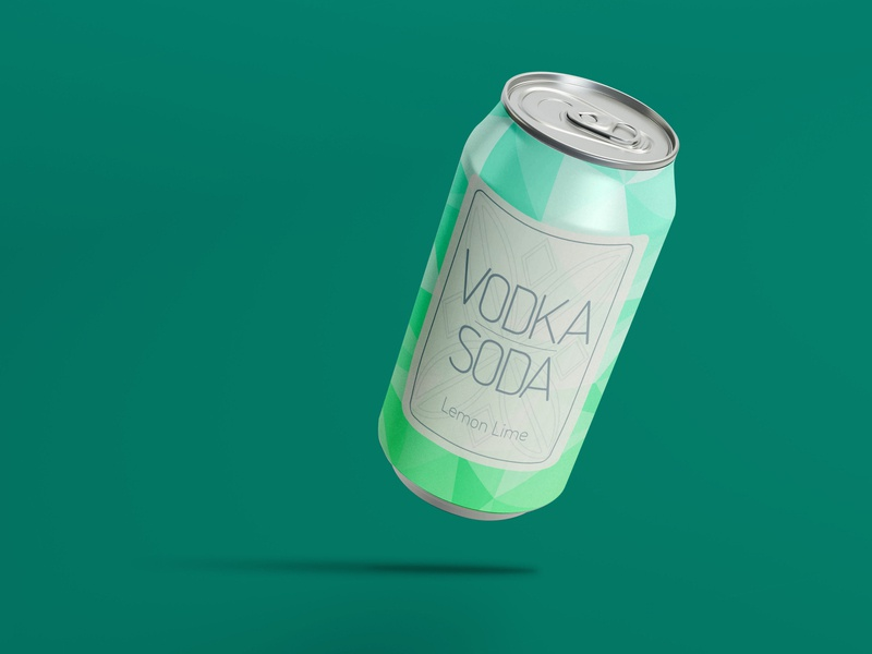 vodka soda Can package design mockup