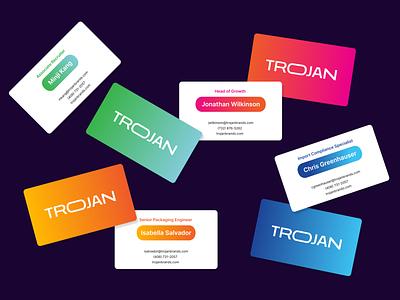 Trojan Condoms Rebrand logo identity design rebrand trojan design branding