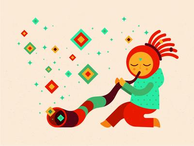 Didgeridoo - character for festival identity