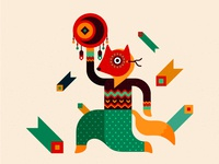 Fox - character for festival identity