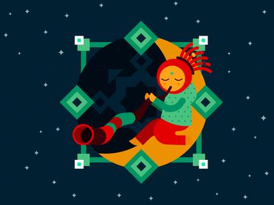 Illustration for INAYA web-site (night)