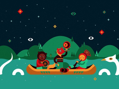 Illustration for INAYA festival identity