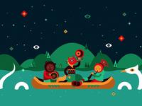 Illustration for INAYA festival identity