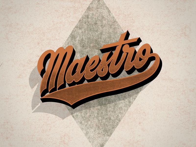 Maestro procreate typography maestro texture lettering handlettering