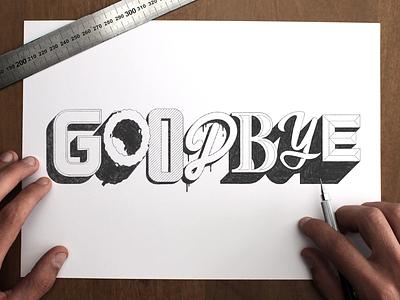 Goodbye holidays! artwork holidays goodbye typography type lettering handlettering sketch