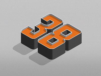 Birthday... typography isometric 3d handlettering procreate lettering birthday