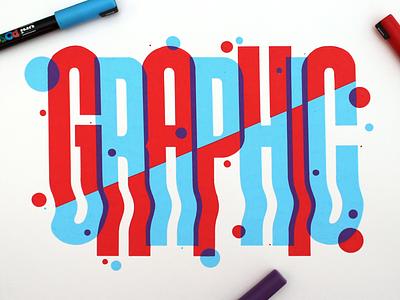 Graphic typography artwork design graphic handlettering lettering posca