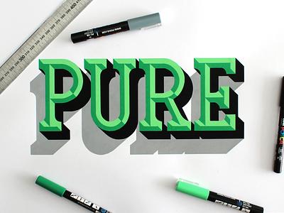 Pure lettering design graphic posca pure custom type typography typo bevels handlettering