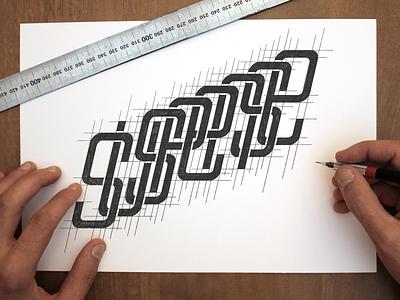 Like a monogram handlettering lettering typography wip sketch suspense monogram