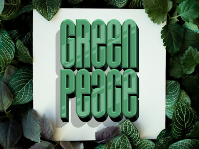 Greenpeace letters graphic design type typography green greenpeace logo handlettering lettering