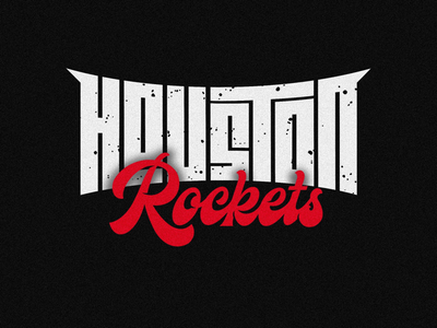 Houston Rockets graphic lettering design logotype type logo typography ilovethisgame basketball nba