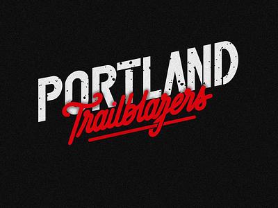 Portland Trailblazers graphic lettering design logotype type logo typography ilovethisgame basketball nba