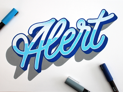 Alert posca alert typography type lettering handlettering
