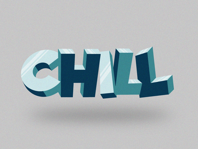 CHILL logo font type typography lettering procreate relax chill