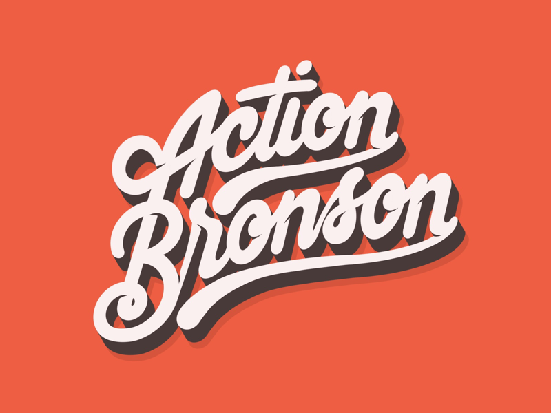 Action Bronson logo rap hiphop procreate typography handlettering lettering actionbronson