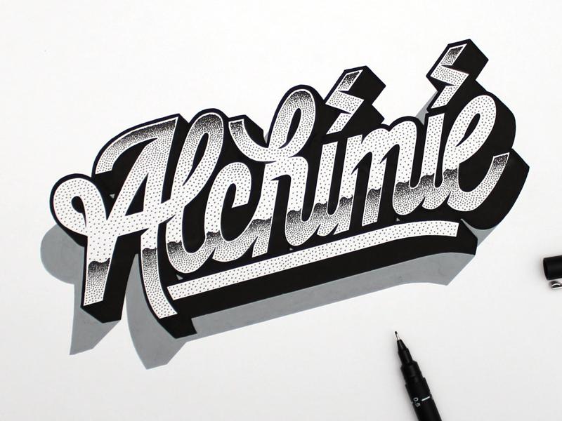 Alchimie. posca dotwork typography type alchimie lettering handlettering
