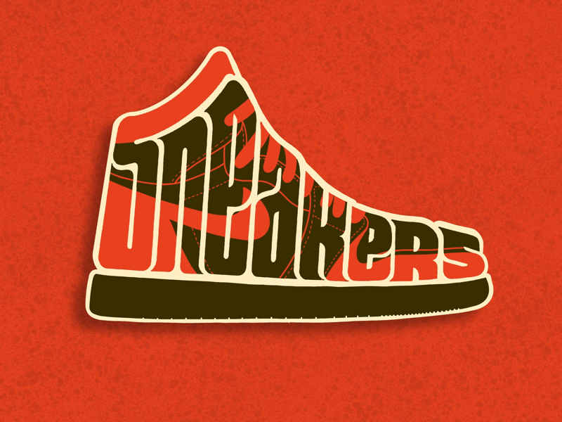 Sneakers. red typography type handlettering lettering nike shoe sneakers