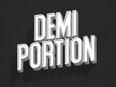 Demi Portion.
