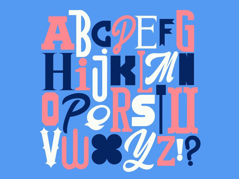 Alphabet 3 letters alphabet procreate handlettering typography lettering