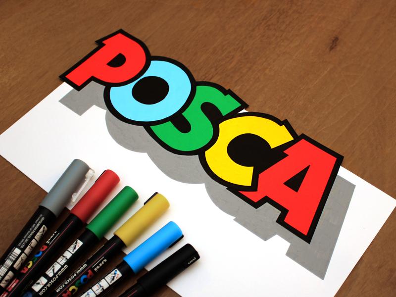 Posca typography type logotype logo lettering visual floating posca