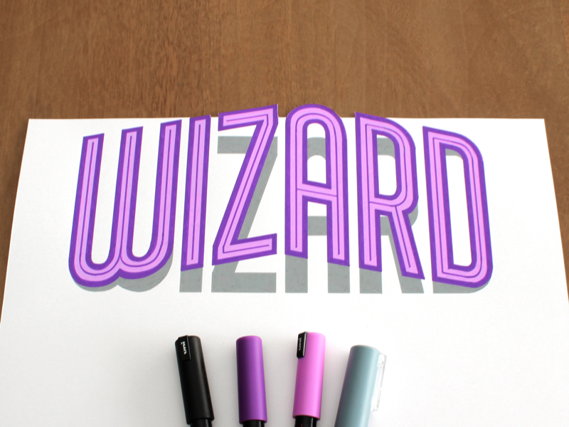 Wizard posca wizard logo type typography lettering handlettering