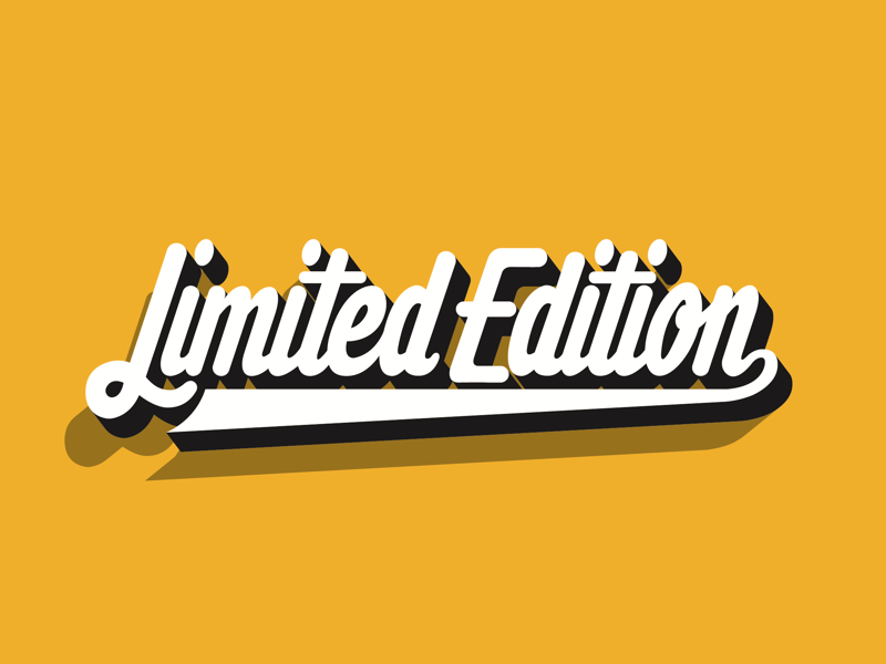 Limited Edition typography logo lettering logotype illustrator vector limitededition