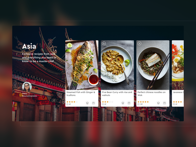 Cooking Website Exclusive Recipes website video ui ux design recipes modern minimal layout gourmet food exclusive cooking chef