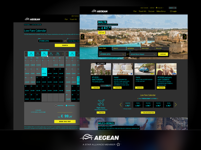 Aegean Airlines - Website Adaptation for WCAG wcag website user experience visual impairment vision navigation high contrast mode disability design booking accessibility aegean airlines