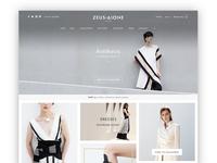 Zeus + Dione Fashion eShop Web Design