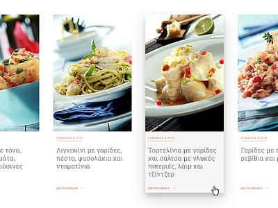 Chef Recipes Cards material design cards website ui design gourmet chef cooking recipe food