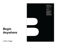 John Cage Event Poster Concept