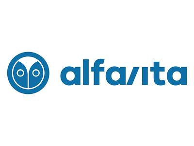 AlfaVita Educational Portal Logo Design minimal design branding symbol logo articles news portal student teacher university school education