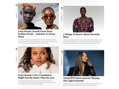 Athens Voice Look News Cards ui design typography portal news lifestyle gallery fashion elegant editorial beauty articles athens voice