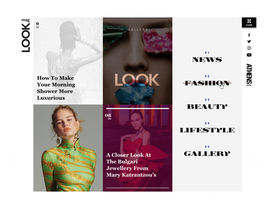 Athens Voice Look Menu Active ui design typography portal news lifestyle gallery fashion elegant editorial beauty articles athens voice