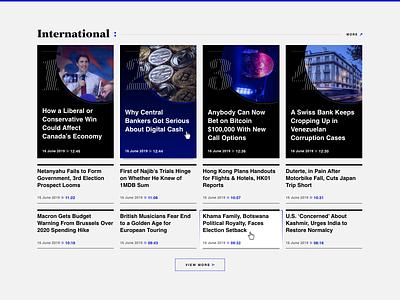 Business Daily International News Category stocks markets finance website web ux ui portal news design business articles