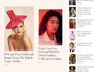 Fashion Portal News Exploration ui design typography portal modern minimal news lifestyle fashion elegant editorial celebrity card beauty articles