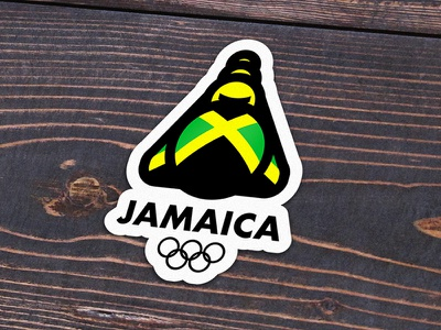 Quick fun mockup sport sports olympic olympics bobsled jamaica playoff mule sticker