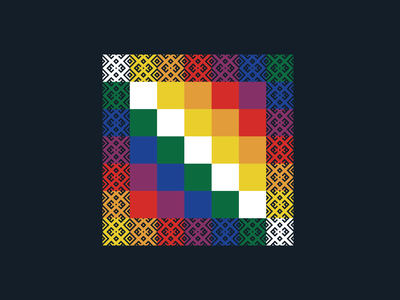 WIPHALA mark graphicdesign icon textile design pachamama wiphala bolivia