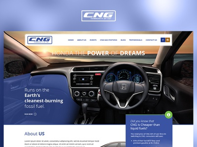 CNG fun blue case study photoshop website web redesign project ux ui design