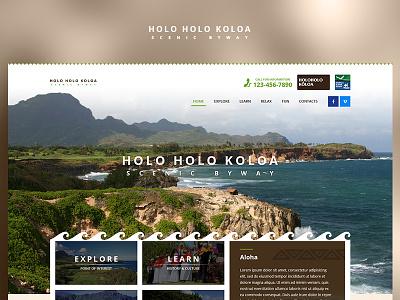 Holo Holo Koloa fun blue case study photoshop website web redesign project ux ui design