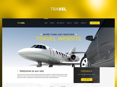Travel Plane yellow fun case study photoshop website web redesign project ux ui design