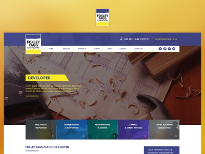 Foxley Tagg app yellow blue case study photoshop website web redesign project ux ui design