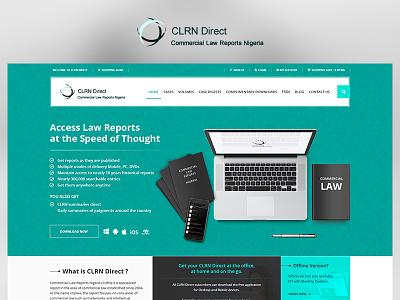 CLRN Direct green app fun blue case study photoshop website web redesign project ux ui design