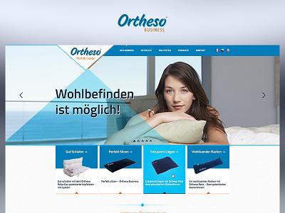 Ortheso fun blue case study photoshop website web redesign project ux ui design