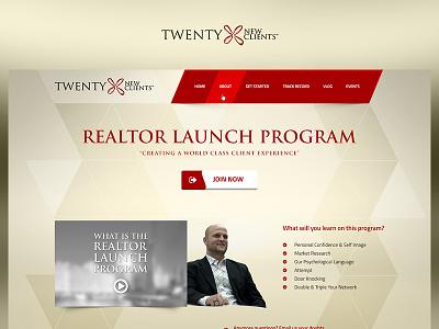 Twenty New Clients red app fun case study photoshop website web redesign project ux ui design