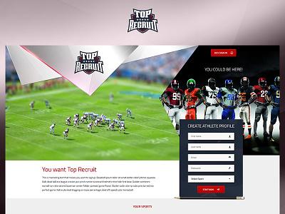 Top Recruit green app fun case study photoshop website web redesign project ux ui design