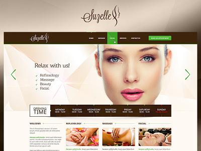 Suzelle green fun case study photoshop website web redesign project ux ui design